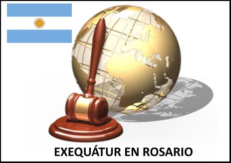 Exequátur en Rosario